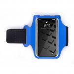 6寸輕薄透氣運動手機臂袋   跑步專用防汗臂包 - 藍色