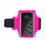 6寸輕薄透氣運動手機臂袋   跑步專用防汗臂包 - 粉紅色