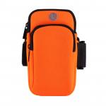 6寸拉鏈款運動手機臂袋   跑步專用防汗臂包 - 橙色