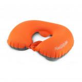 Naturehike 按壓式自動進氣旅行頸枕 - 橙色