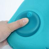 ROMIX 按壓充氣U型旅行頸枕 - 藍色