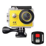EKEN H9R 4K全高清防水運動相機 帶搖控 | 航拍浮潛潛水戶外極限運動攝像機  - 黃色