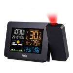 FanJu 彩屏室內天文台溫度濕度投射鐘 |  溫濕度及氣壓檢測 帶無線室外感測器