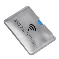 Anti-RFID/NFC anti-information stolen aluminum foil card holder