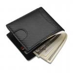 防磁 RFID 碳纖皮紋錢包 | 防RFID讀取銀包