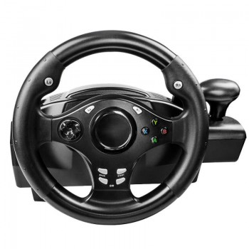 7-in-1 simulation racing game steering wheel 軚盘 with gear and base | with vibration function | support PS4 PS3 PS2 PC XBOX360 XBOXONE NSSWITCH computer games