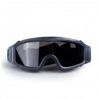 Black sealed explosion-proof goggles | Impact-resistant protective glasses WAR GAME protective equipment
