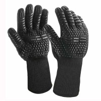 800 degree barbecue fireproof gloves | heat insulation BBQ oven silicone gloves