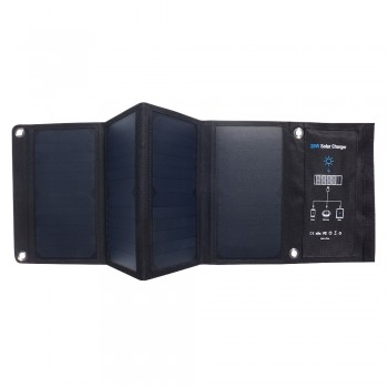 28W rainwater solar folding bag charger | rechargeable mobile phone tablet USB fast charge output