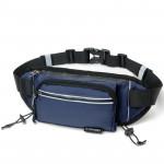 CleverBEE 多功能跑步運動腰包 帶水壺袋 | 輕便運動斜揹袋 - 深藍色