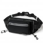 CleverBEE 多功能跑步運動腰包 帶水壺袋 | 輕便運動斜揹袋 - 黑色