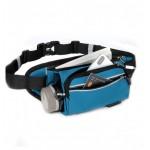 CleverBEE 多功能跑步運動腰包 帶水壺袋 | 輕便運動斜揹袋 - 藍色