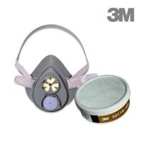 3M 3200 + 3311K-100 3-in-1 gas mask set | Anti-organic steam and acid gas Anti-virus and smoke mask mask set