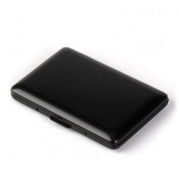 Ultra-thin aluminum metal anti-RFID card box wallet | Anti-degaussing card package Anti-NFC information stolen brush aluminum foil card package
