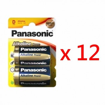 Panasonic LR20-B4 D-Sized Alkaline Batteries (24pcs)