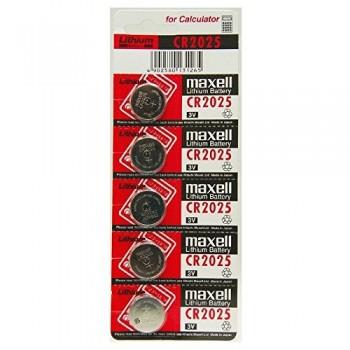 MAXELL CR-2025 Button Battery (5 pieces)
