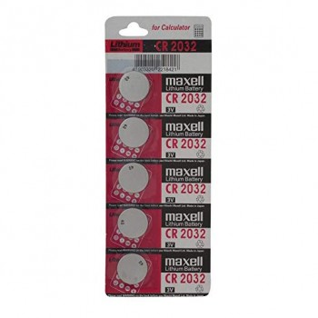 MAXELL CR-2032 Button Battery (5 pieces)