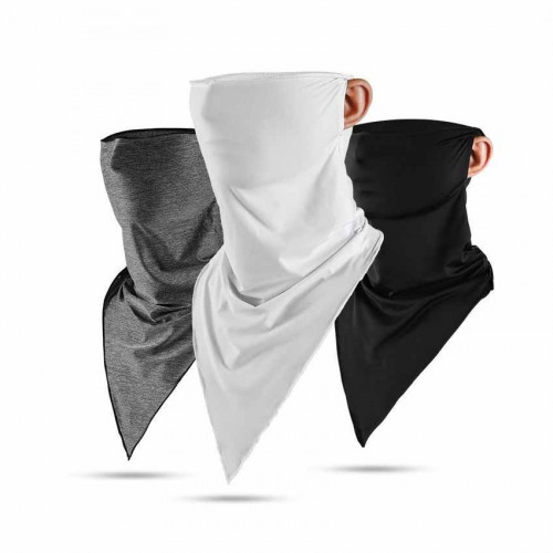 抗UV冰絲防曬頸圍 | 超彈性防曬 - 黑色
