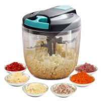 五刀片手拉式絞肉切蒜機 | 懶人手動攪拌機 蔬菜切碎器