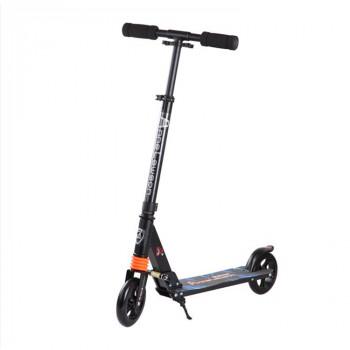 C3 輕量版合金成人滑板車 - 黑色 | PU輪可折疊滑板車 兒童成人通用 可調高度