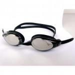 GOMA SILICONE 防霧反光泳鏡 | 防UV游泳訓練眼鏡 G2532M - 白銀