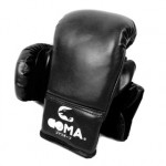 GOMA PU革面10OZ 沙包訓練拳套 | 成人拳擊泰拳手套 - 黑色