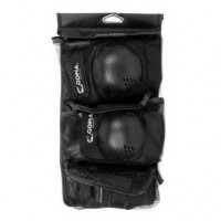GOMA 110S 黑色護具6件套套裝 | 護腕護肘護膝 成人兒童護具