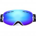BENICE 兒童款滑雪眼鏡 SNOW-4300 | 大球面雙層防霧滑雪護目鏡 | 可配合眼鏡用滑雪鏡 黃色