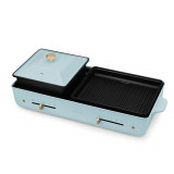 Nathome 二合一涮烤一體電燒烤爐 NSK20 火鍋韓燒爐   香港行貨 - 藍色