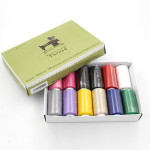 12色縫紉大線卷套裝   DIY縫紉機衣車線組合