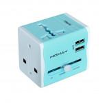 MOMAX UA4 2.1A 雙USB萬用旅行轉插 全球通用 | 旅行插頭 | 香港行貨