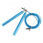 鋁合金手柄鋼絲跳繩 | 萬向軸承 健身用高速花式跳繩 - 藍色