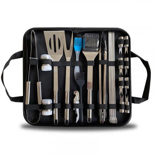 BBQ懶人燒烤組合工具28件套裝 | 燒烤夾鋼鏟燒烤串