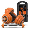 FED 30KG組合式可調節電鍍啞鈴槓鈴套裝 | 家用健身訓練重訓 | 帶加厚加護膠套