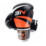 BN 成人泰拳訓練拳套 - 橙黑色 - 12oz