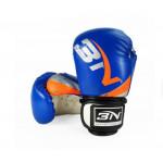 BN 6OZ 兒童泰拳訓練拳套 | 小童拳套 - 藍色
