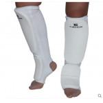 YS 跆拳道訓練護腿護踝腳套 - 拳擊護腳 - 白色大碼