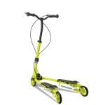 COOLTHINK 雙手剎蛙式摺疊滑板車 | 成人兒童通用  車剪刀車 三輪扭扭車 - 黃色