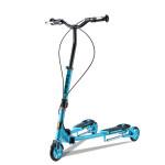 COOLTHINK 雙手剎蛙式摺疊滑板車 | 成人兒童通用  車剪刀車 三輪扭扭車 - 藍色