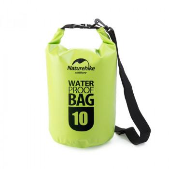 Naturehike Marine500D 10L圓桶形防水袋 | 戶外防水漂流包 500D加厚高密款 - 綠色