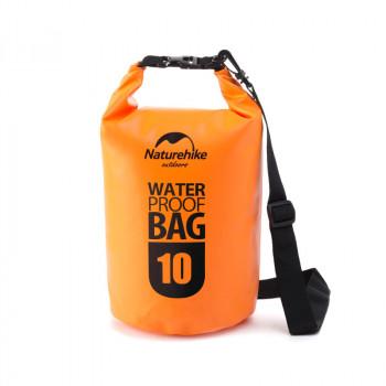 Naturehike Marine500D 10L圓桶形防水袋 | 戶外防水漂流包 500D加厚高密款 - 橙色