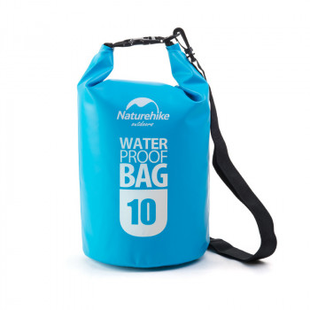 Naturehike Marine500D 10L圓桶形防水袋 | 戶外防水漂流包 500D加厚高密款 - 藍色