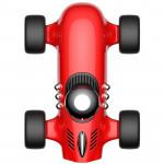 創意F1賽車擺件車用空氣淨化器 | 香氛空氣清新機 - 紅色