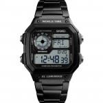SKMEI 時刻美多功能防水運動電子錶 |  指南針 計步運動  - 黑色