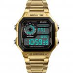 SKMEI 時刻美多功能防水運動電子錶 |  指南針 計步運動  - 金色