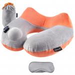 DENOR 按壓式充氣旅行護頸枕 | 護頸U形記憶枕 - 橙色