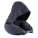 日式帶帽多功能頸枕 | 旅行午睡枕u型枕 - 藏青色