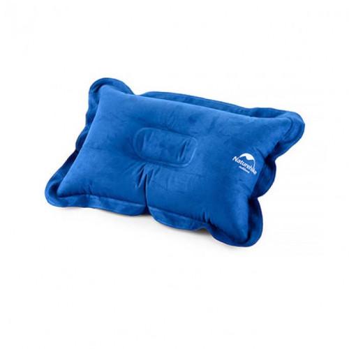 Naturehike 輕量便攜折疊式麂皮絨充氣枕頭 (NH15A001-L) | 露營充氣枕 - 藍色
