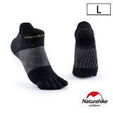 Naturehike 暖笙coolmax快乾排汗運動短襪 (NH20FS002)   透氣船襪  - 黑色大碼
