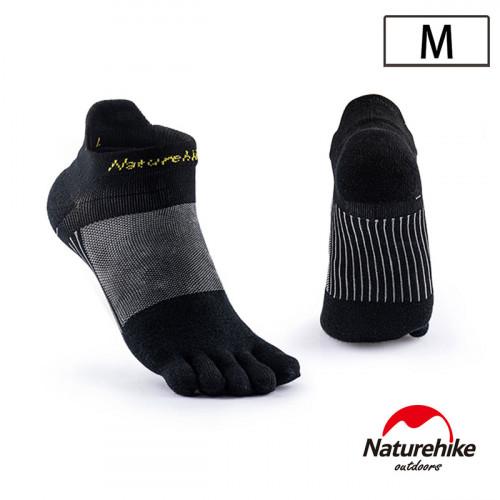 Naturehike 暖笙coolmax快乾排汗運動短襪 (NH20FS002)   透氣船襪  - 黑色中碼